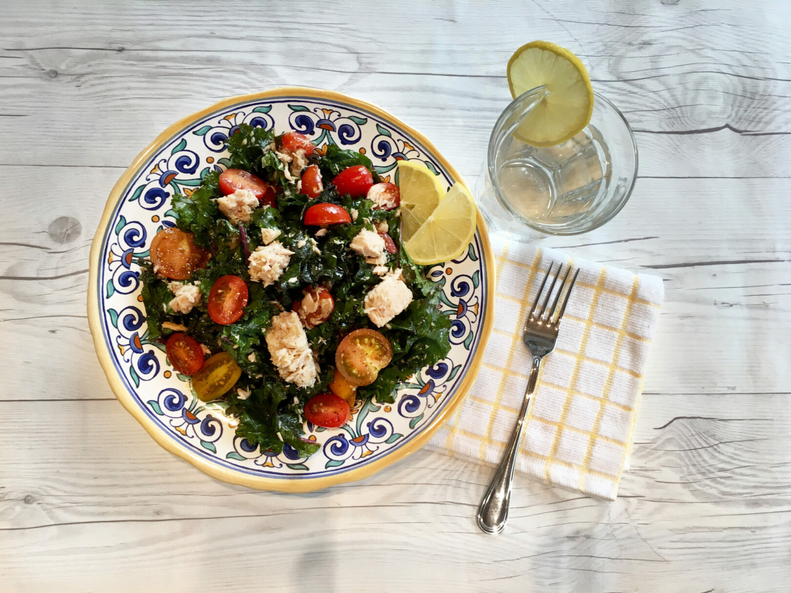 Simply Satisfying Kale and Tuna Salad