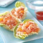 mandarin orange and shrimp lettuce wraps