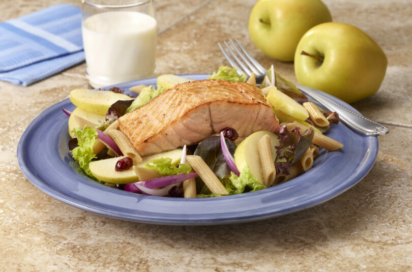 Pan-Seared Salmon and Apple Salad