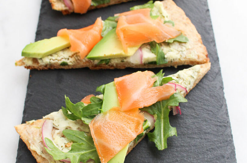 Smoked Salmon Avocado Flatbread