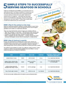5 Simple Steps to Successfully Serving Seafood in Schools Handout
