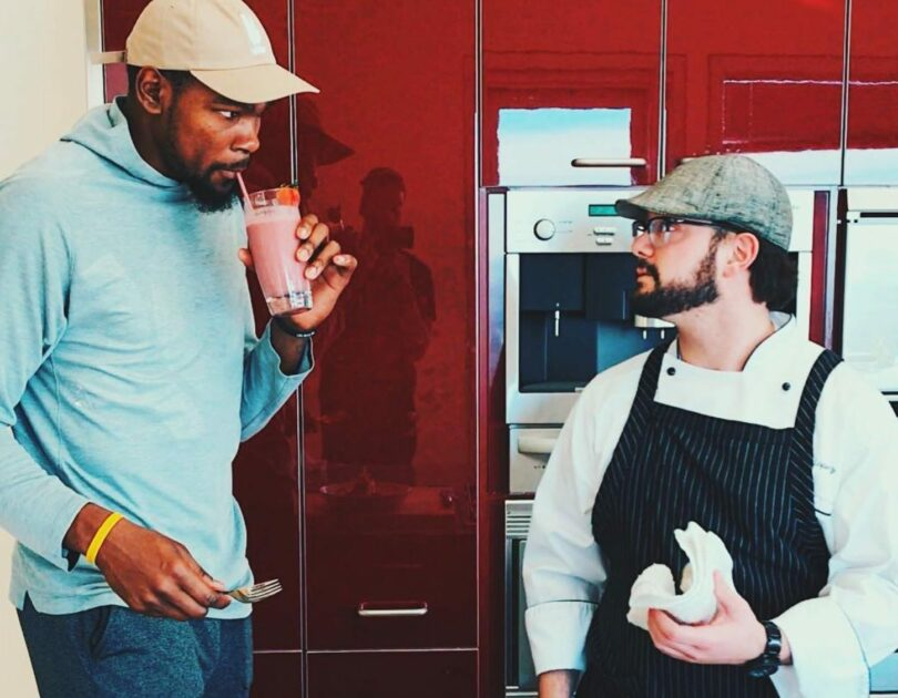 Kevin Durant and Chef Ryan Lopez