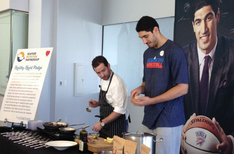 Enez Kanter and chef
