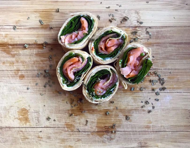 Smoked Salmon Pinwheel