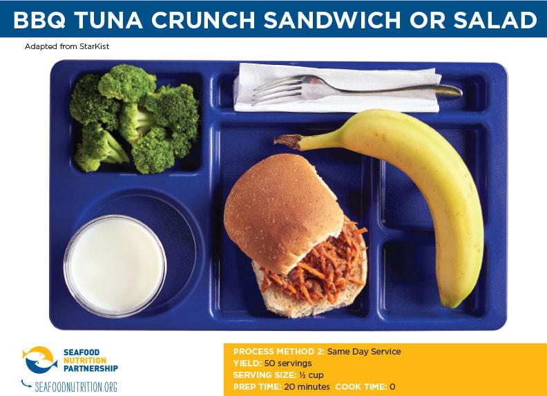 BBQ Tuna Crunch Sandwich or Salad