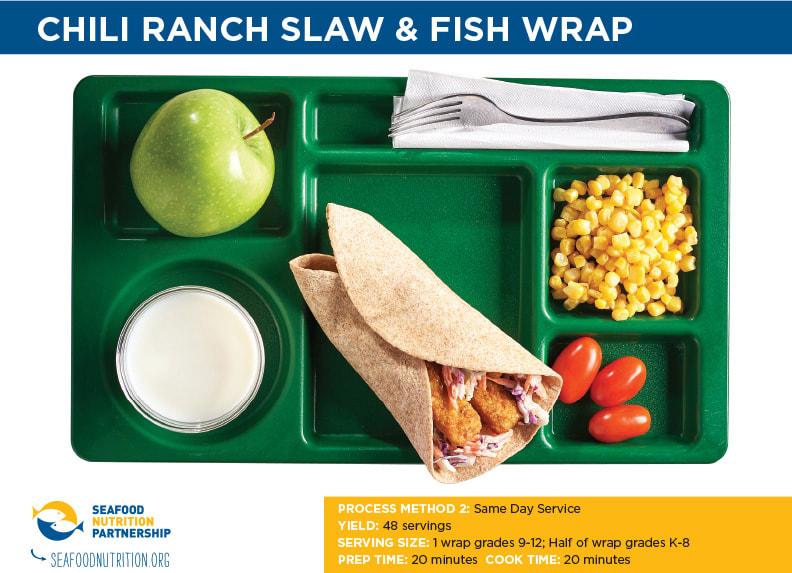 Chili Ranch Slaw & Fish Wrap