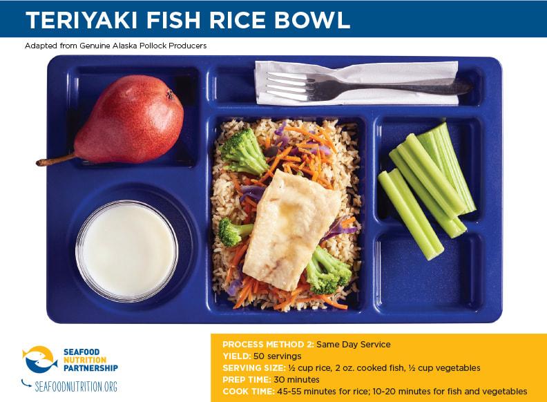 Teriyaki Fish Rice Bowl