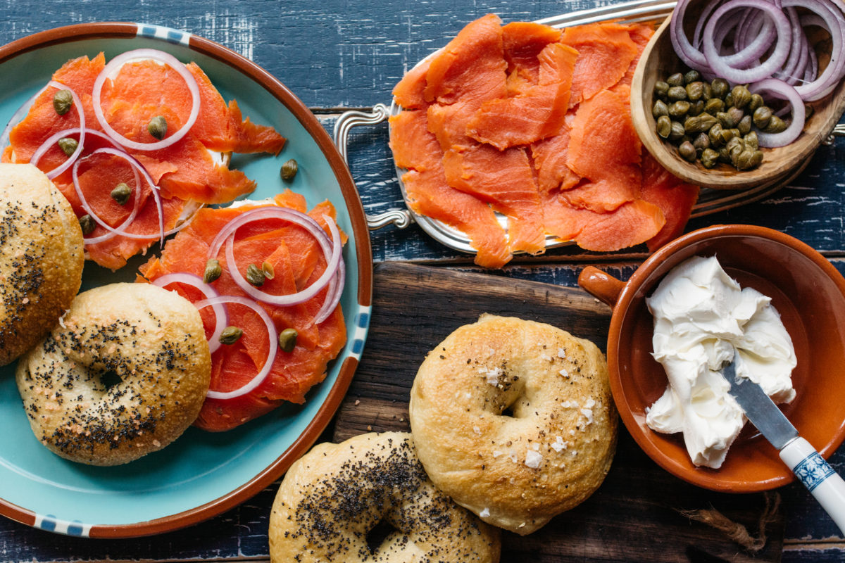 Bagels and Lox for Breakfast