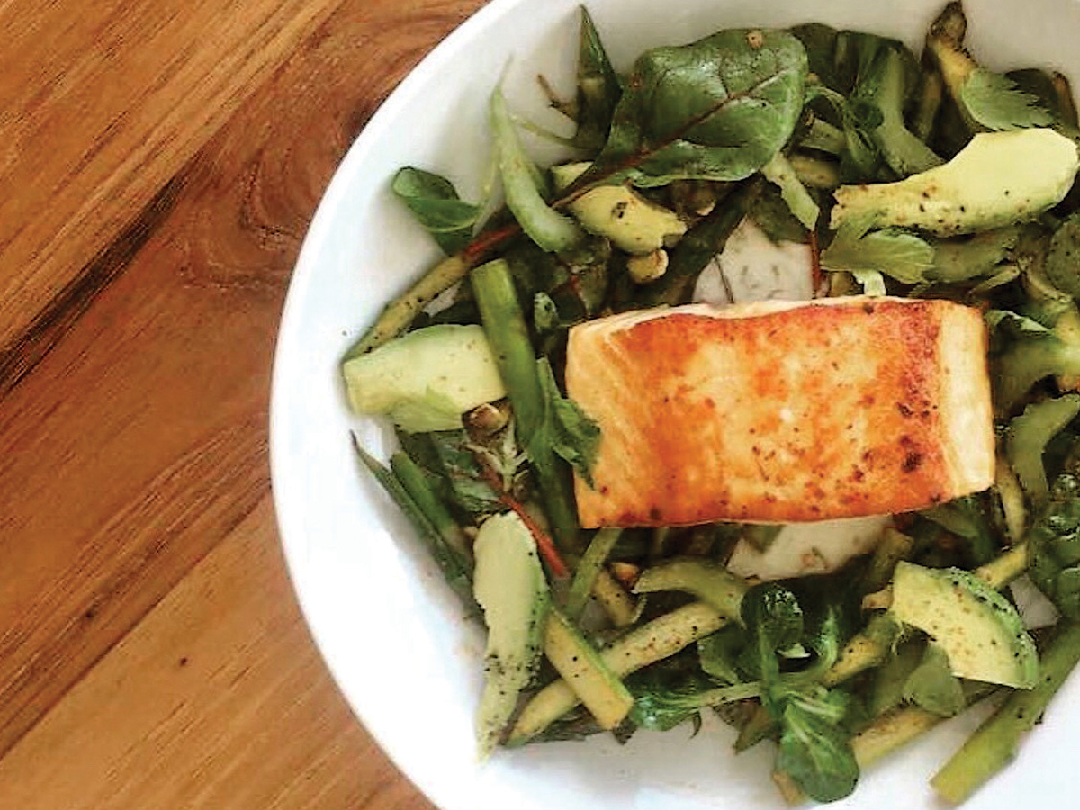 Harissa Spiced Salmon with Asparagus Salad