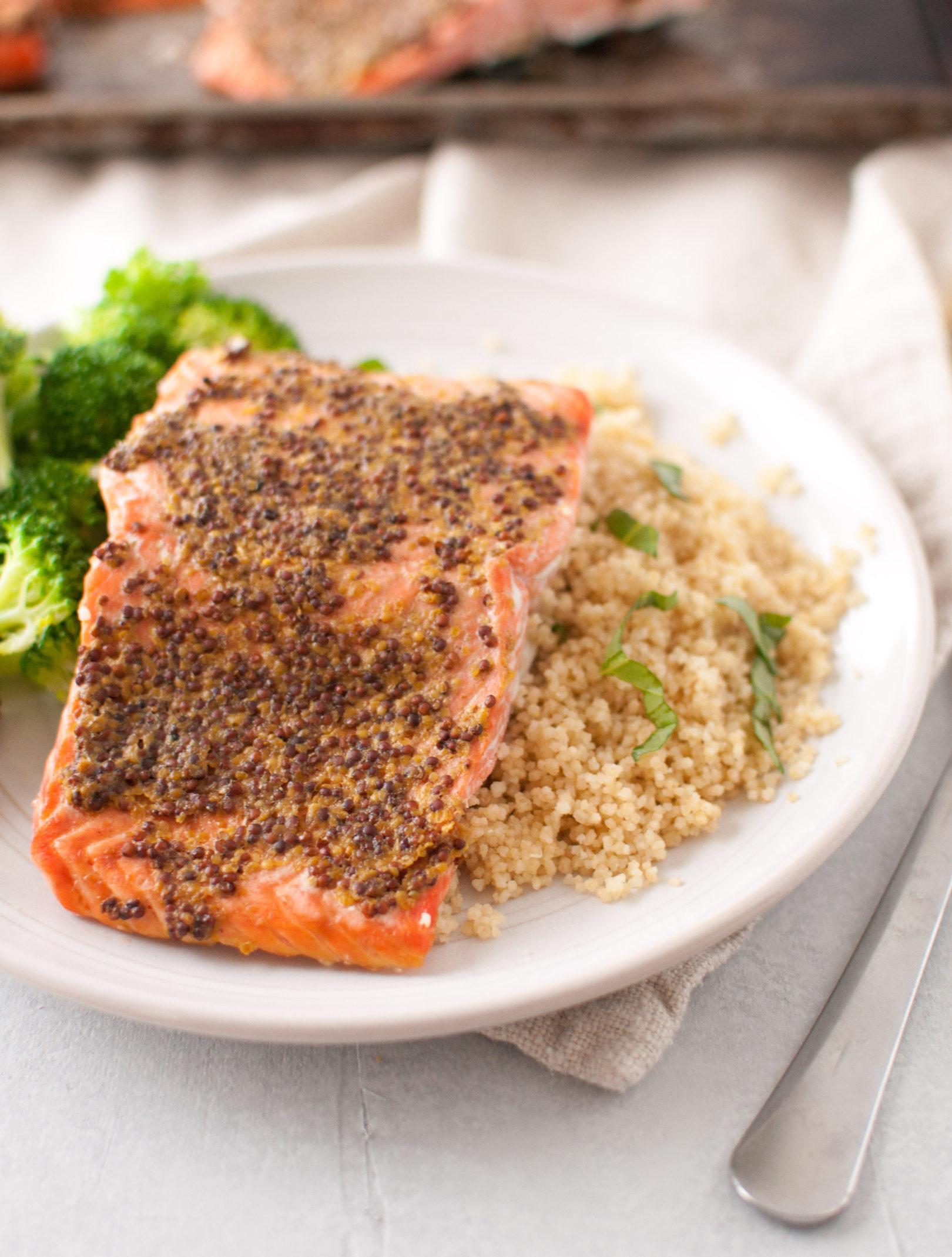 Dijon Roasted Salmon Fillets