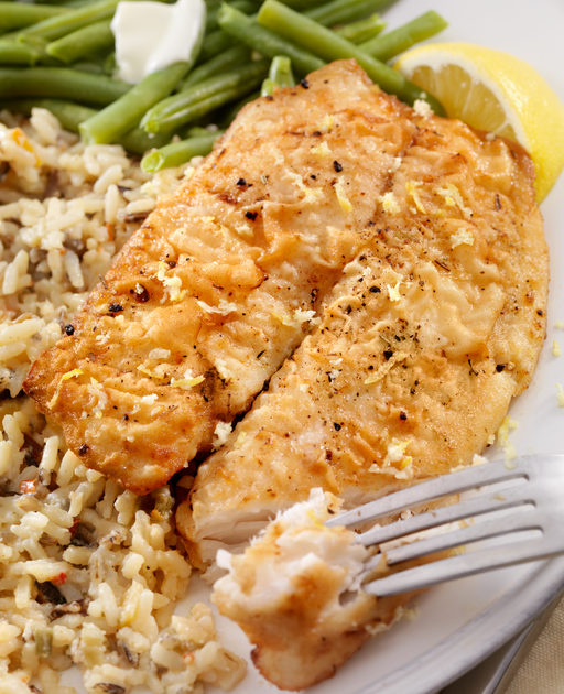 Tilapia with Ginger Glaze