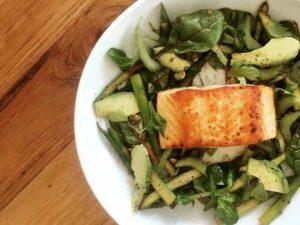 Chef Ryan Lopez Salmon Asparagus Salad