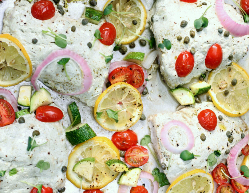 Sheet Pan Mediterranean Snapper