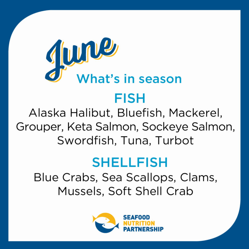 Seafood Seasonality in June