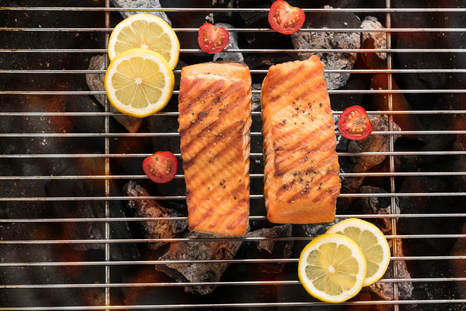 Grilled Skin-on Fish Fillets with Marinated Citrus Salad