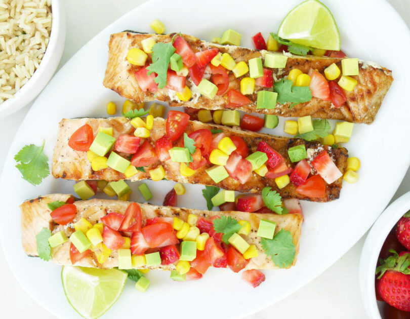 Grilled Salmon with Summer Salsa