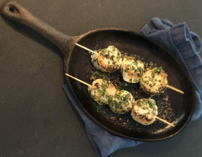 Griddled Scallops with Mint and Lemon