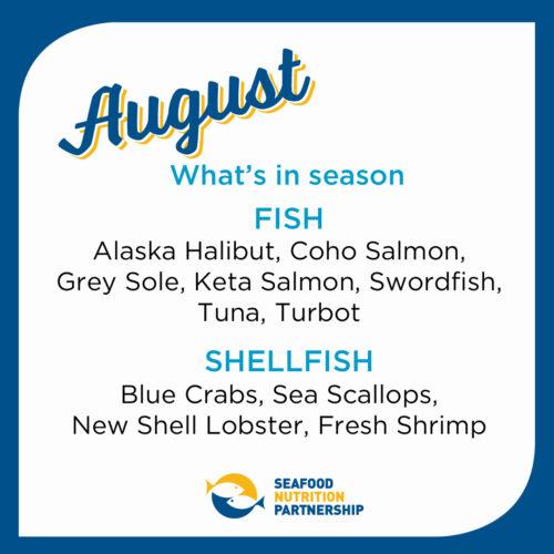 Seafood Seasonality in August
