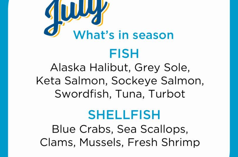 Seafood Seasonality in July