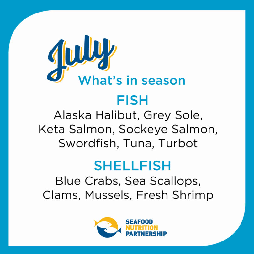 Seafood Seasonality in July