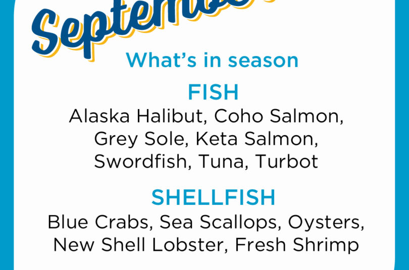 Seafood Seasonality in September