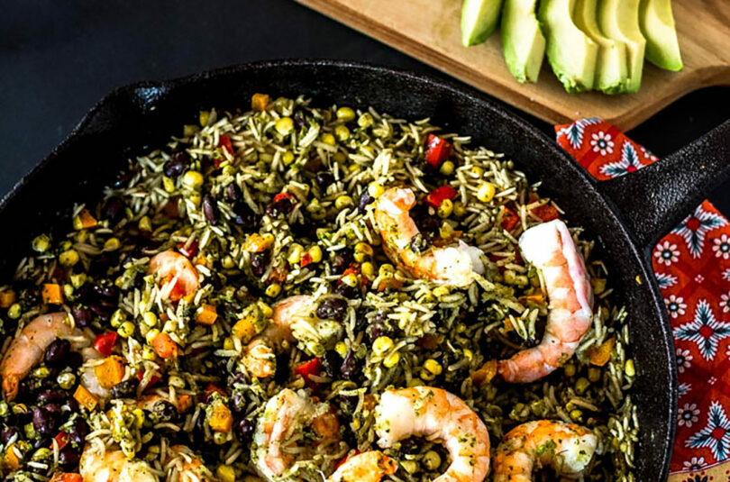 Mexican Arroz con Camarones (Rice and Shrimp)