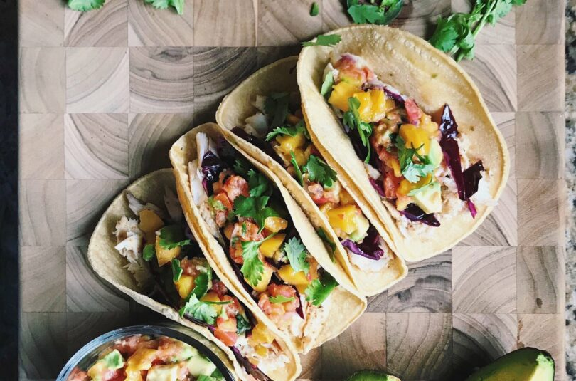 Barramundi Fish Tacos with Mango & Avocado Salsa