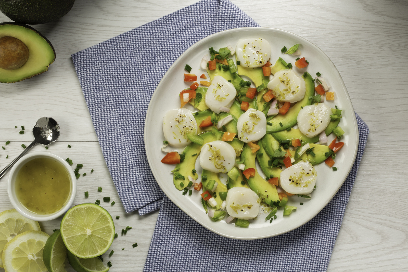 Scallop Ceviche with Sweet & Spicy Peppers