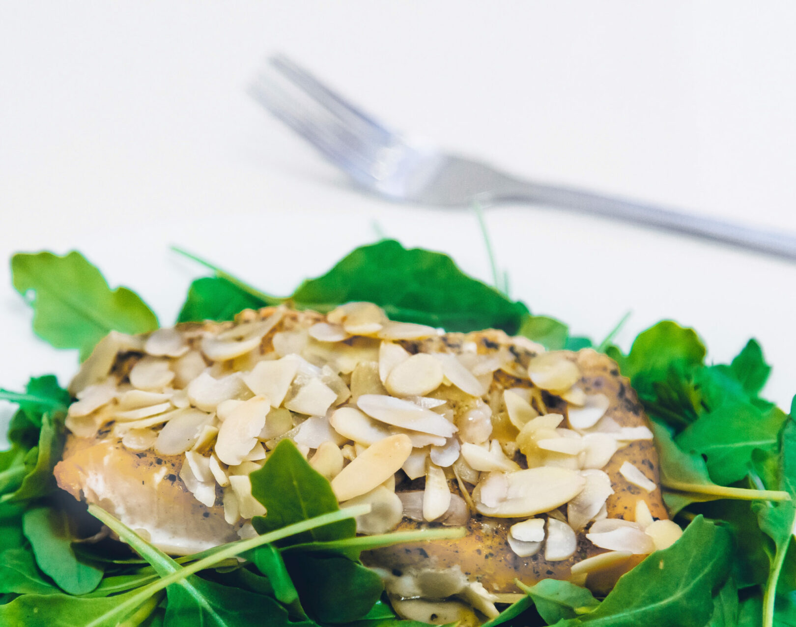 Shallow Poached Pacific Rockfish with Apples and Almonds