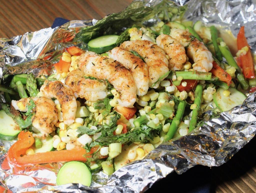 Shrimp and Veggie Foil Packet