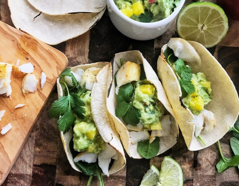 White Fish Tacos with Holy Moly Guacamole