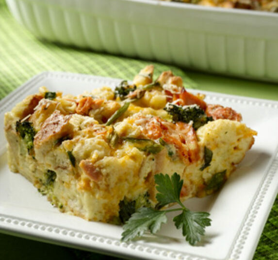 Alaska Salmon Broccoli Cheddar Brunch Bake