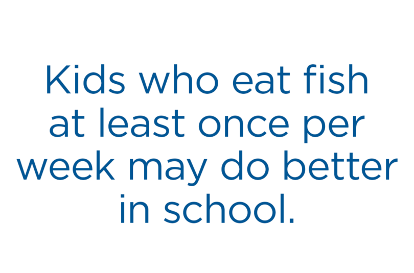 Seafood for Kids: Better Grades