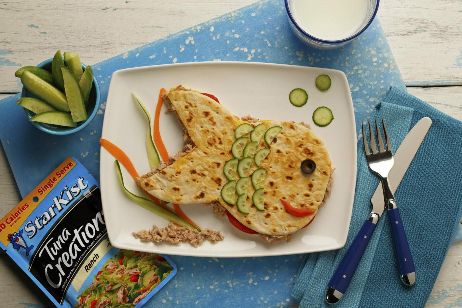 Kid's Tuna Panini Sandwich