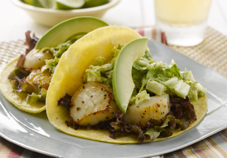 Scallop & Cashew Slaw Tacos