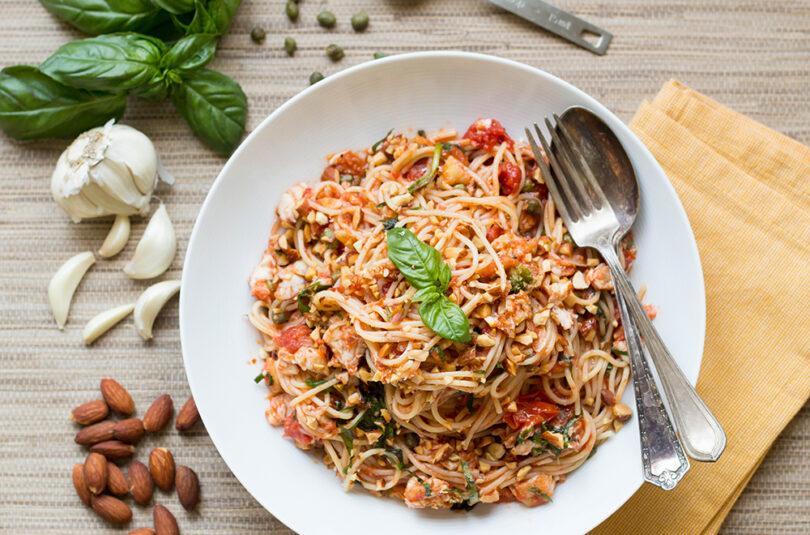 Sicilian Pasta with Barramundi