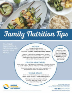 Family Nutrition Tips One Pager