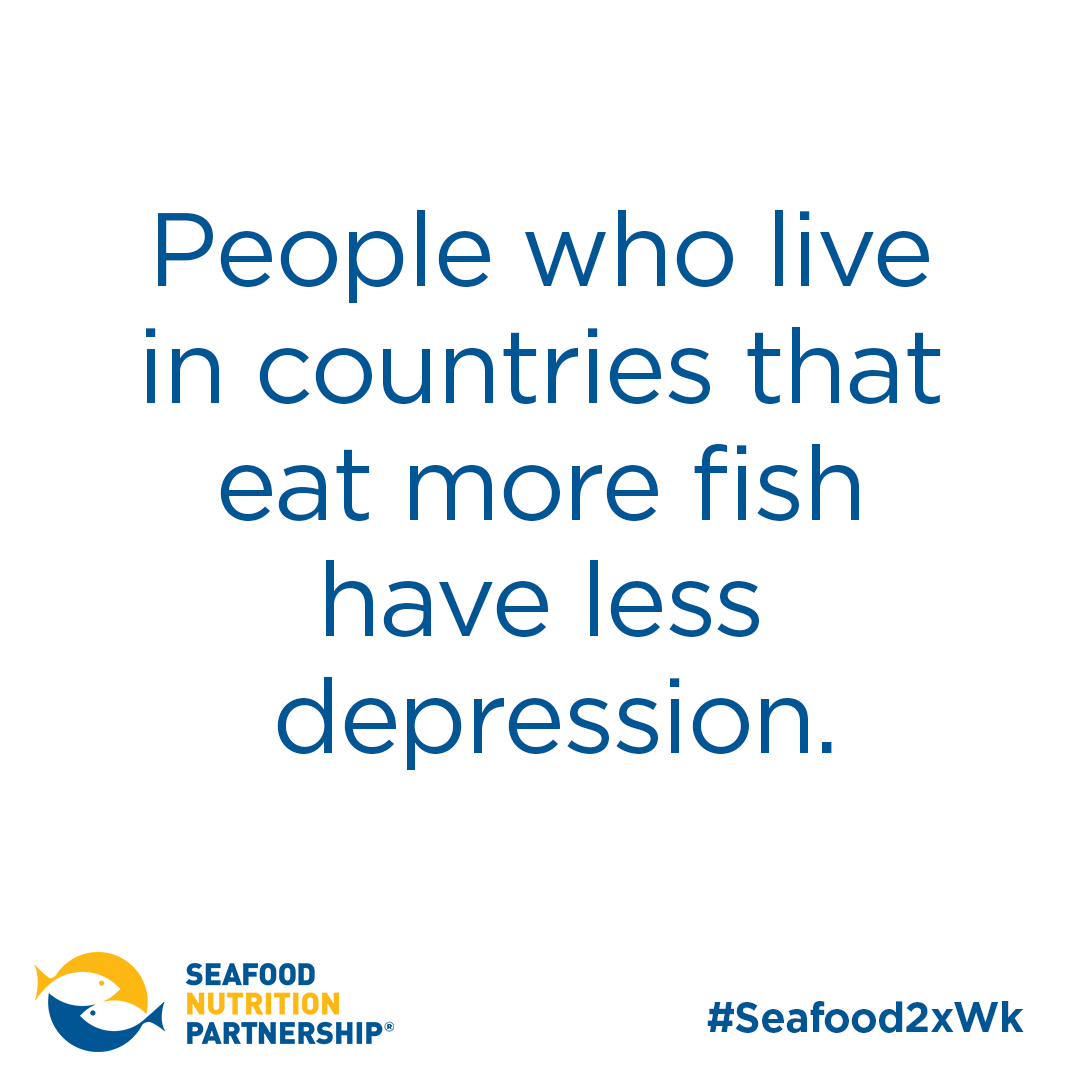 People who live in countries that eat more fish have less depression.