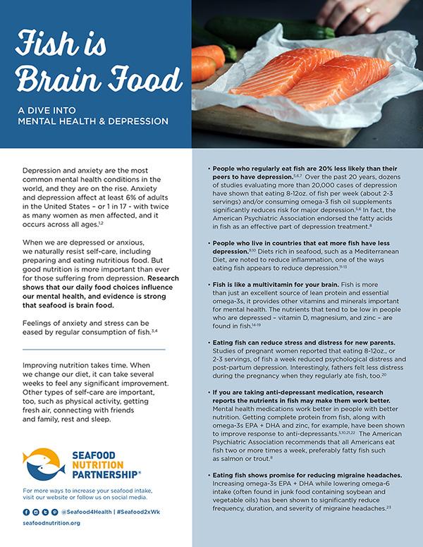 Seafood is Brain Food