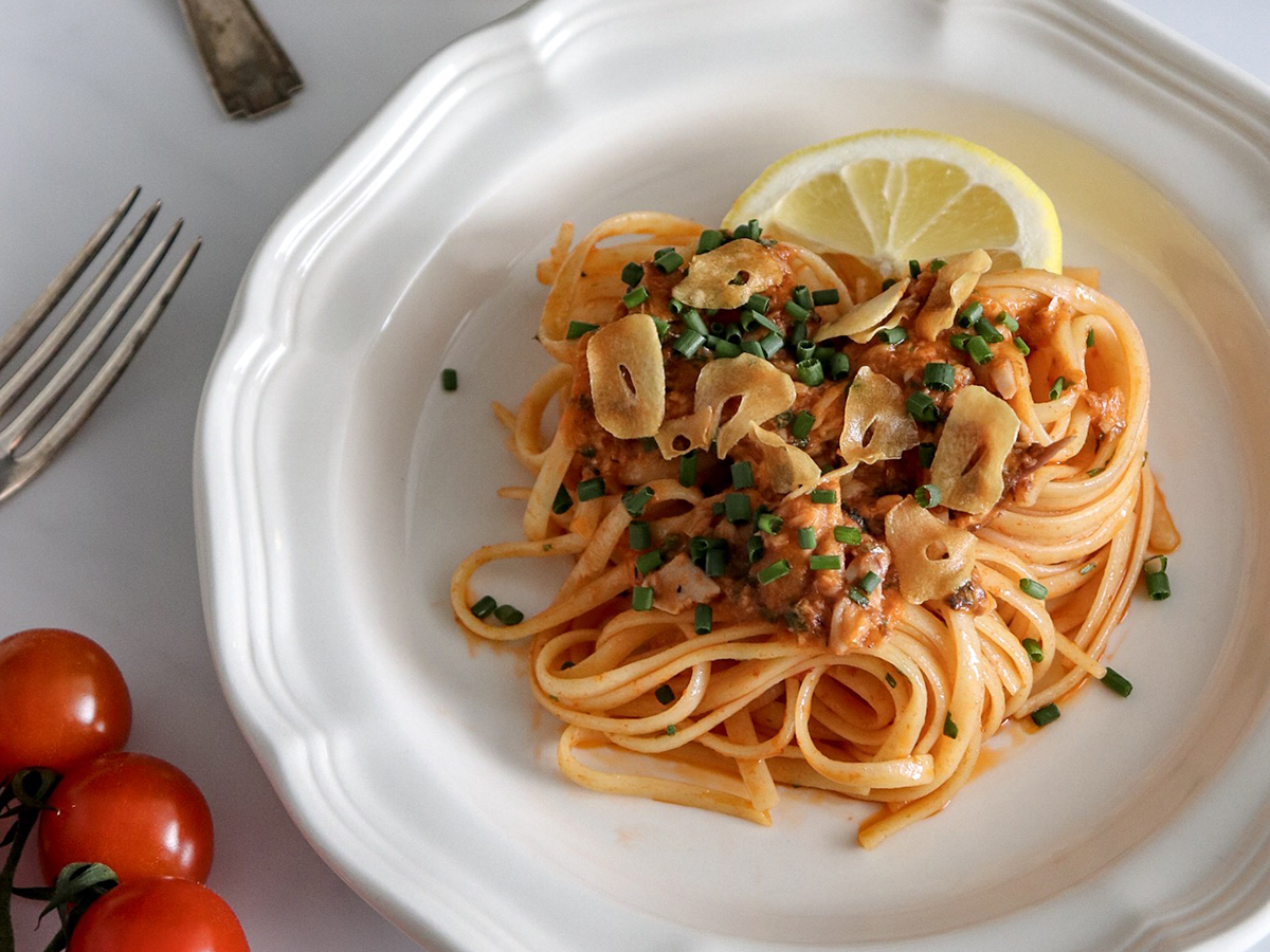 Spicy Sardine Linguine