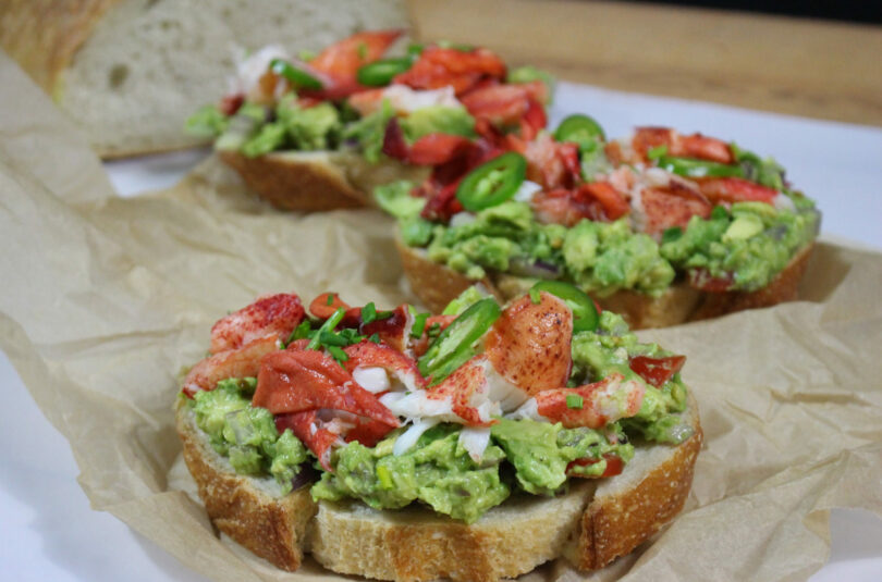 Lobster Avocado Toast