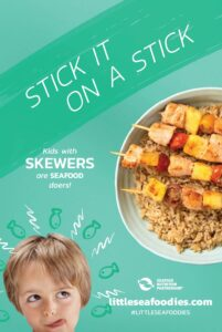 Tip on how to get kids to eat seafood: Stick it on a stick