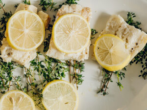 Foil Packet Lemon & Herb White Fish by Dana White Nutrition