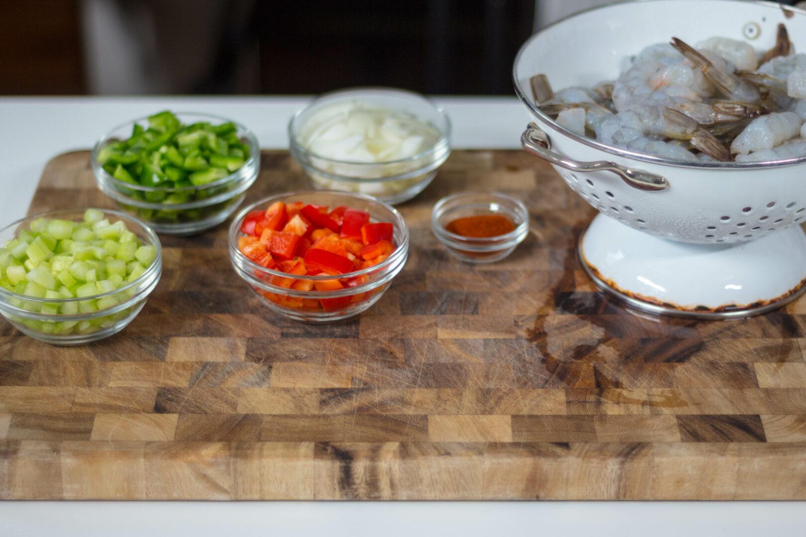 Smothered Shrimp over Polenta by Maya Feller for Seafood Nutrition Partnership