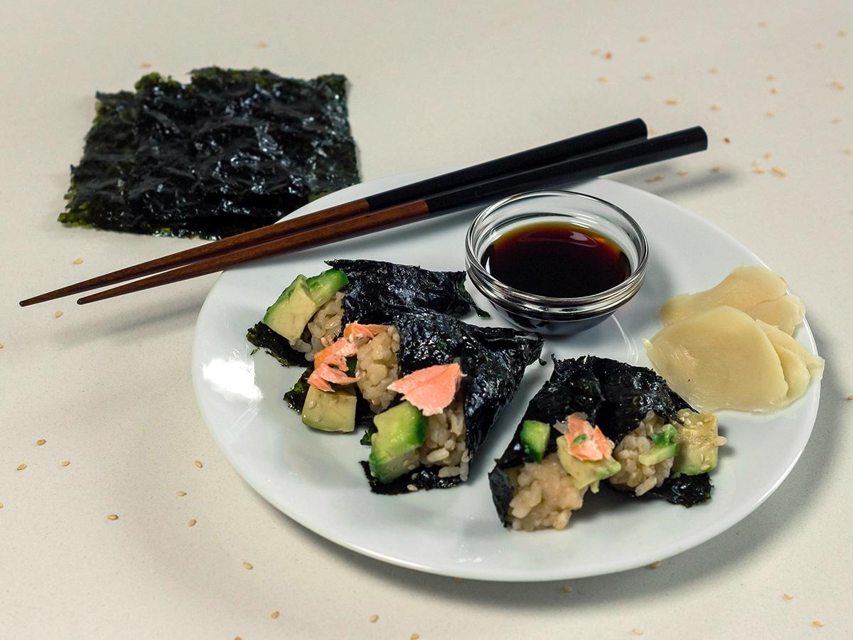 Onigiri rice balls with salmon by Maya Feller