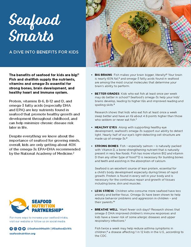 Seafood Smarts: Benefits of Seafood for Kids