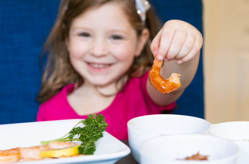 Tips on Getting Kids to Just Try Seafood from Dietitian and Momma Lauren Manaker