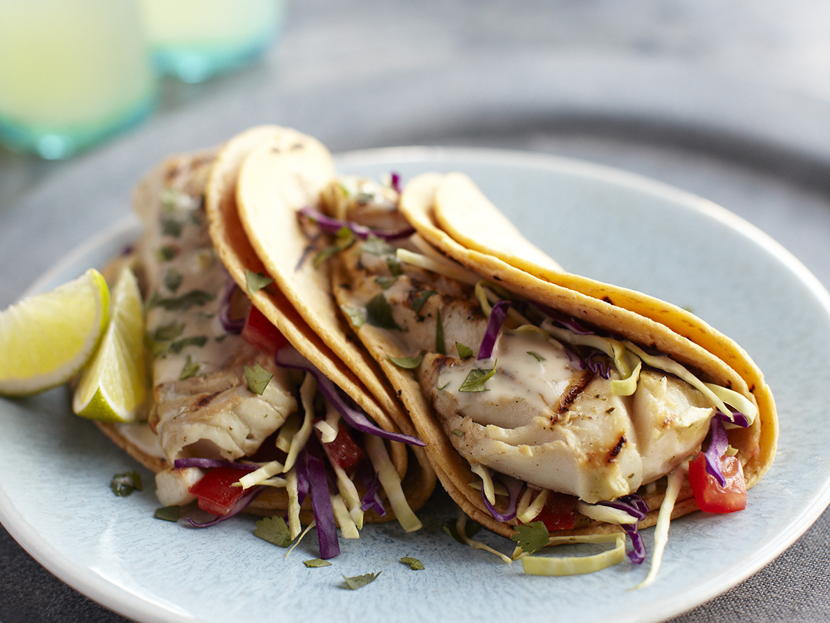 Alaska Pollock tacos - seafood is anti-inflammatory and may support your immune health