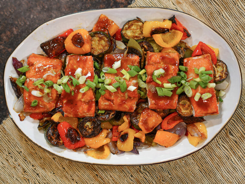 BBQ Salmon with Grilled Vegetables