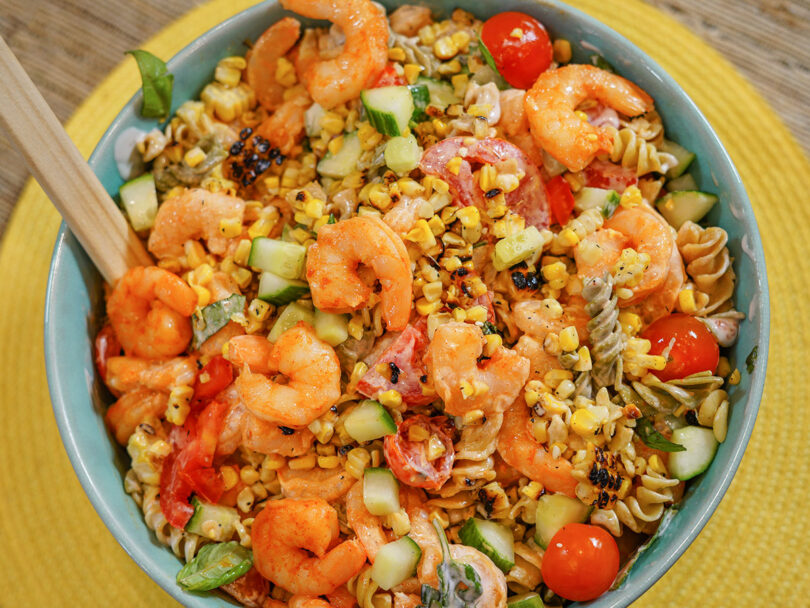 Summertime Shrimp & Vegetable Pasta Salad